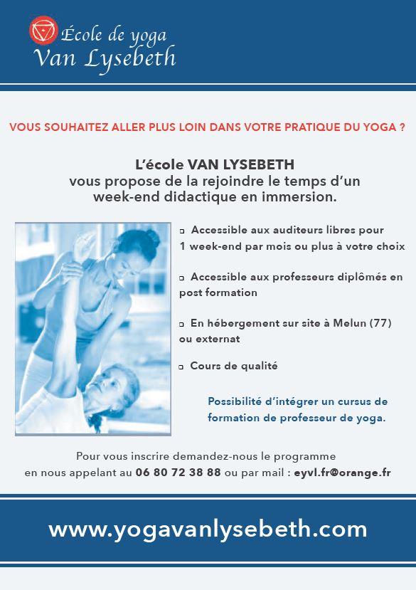 Flyer YogaVanLysebeth